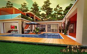 3d house riviera france model