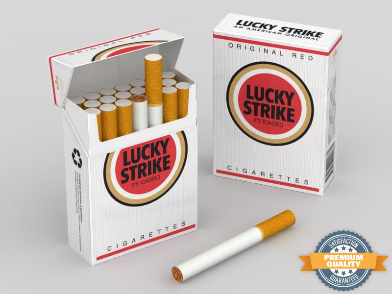 lucky strike cigarette pack 3ds