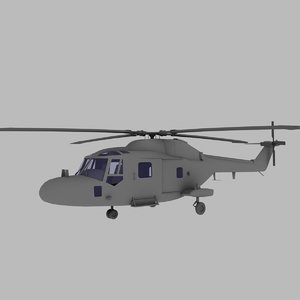 3d lynx helicopter model