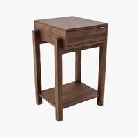 bo nest wood table 3d model