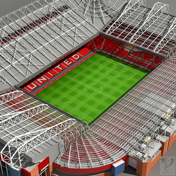 old trafford stadium wembley 3d model