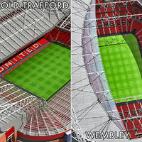 Old Trafford and Wembley Stadiums Collection