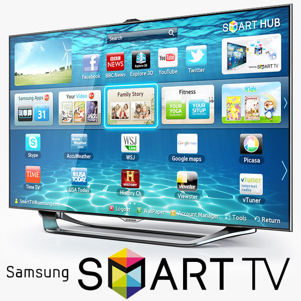 3d samsung smart tv es8000. Black Bedroom Furniture Sets. Home Design Ideas