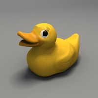 3d toy rubber duck model