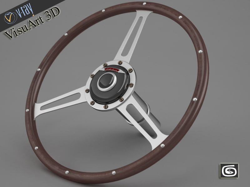 3d austin healey steering wheel model