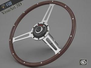 3d austin healey steering wheel model
