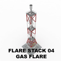 Flare stack (gas flare) 04