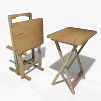 3d model folding table