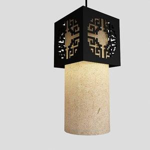 3d model japanese lamp asian
