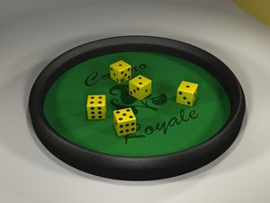 3d playfield dices model