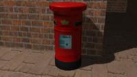 3d british post box