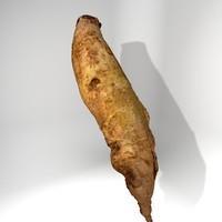 3d beet red long model