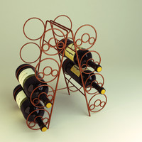3d wine bottle rack model