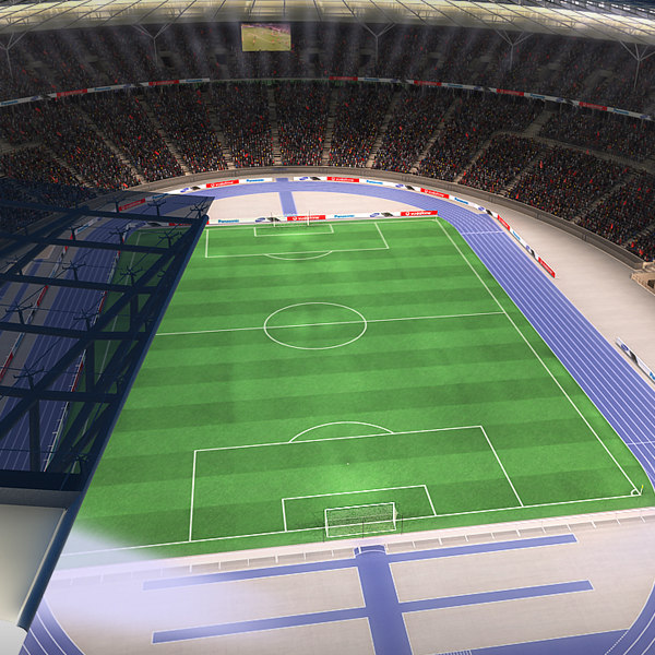 3dsmax olympic stadium fans animation