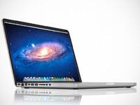 inch macbook pro laptop 3d model