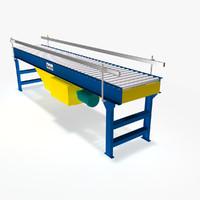 live roller flat belt 3d 3ds