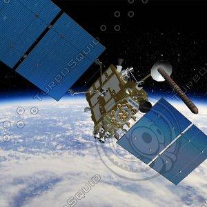 3d max russian gps satellite glonass