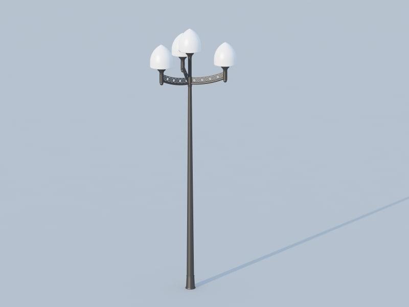 street light 3d obj