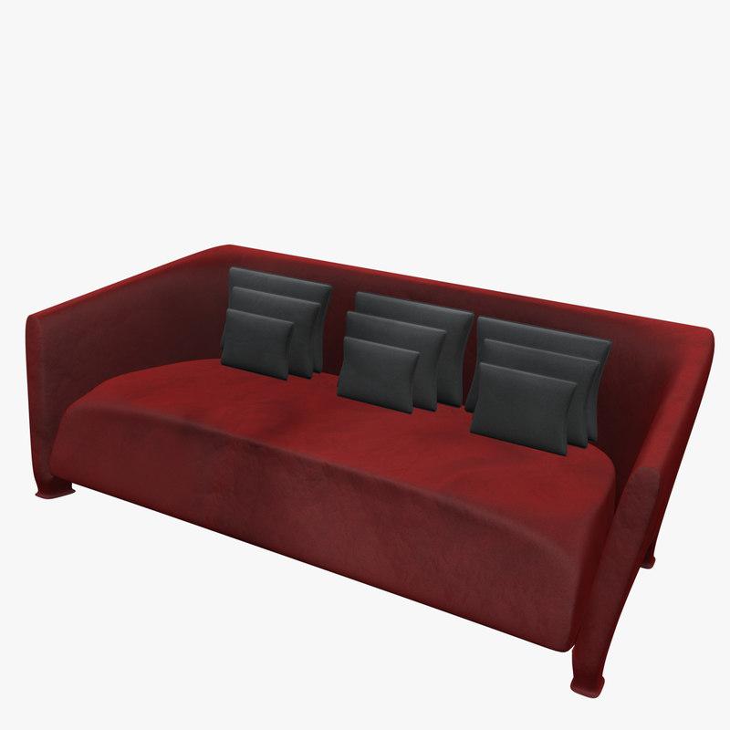 martini sofa 3d 3ds