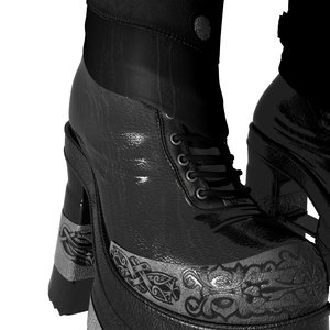 warrior boot 3d model