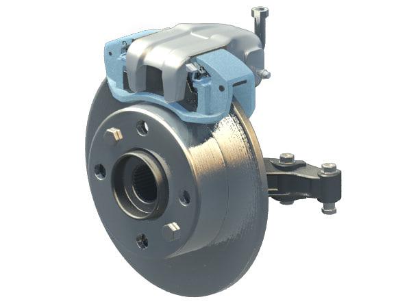 brakes disk 3d max