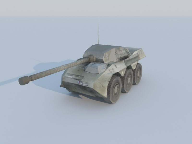 3d model vbc-90 tank destroyer