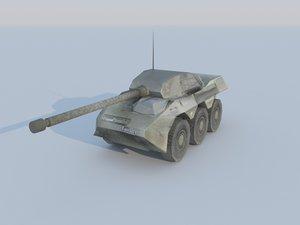 3d model vbc-90 tank destroyer