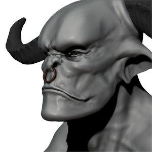 demon bust obj free