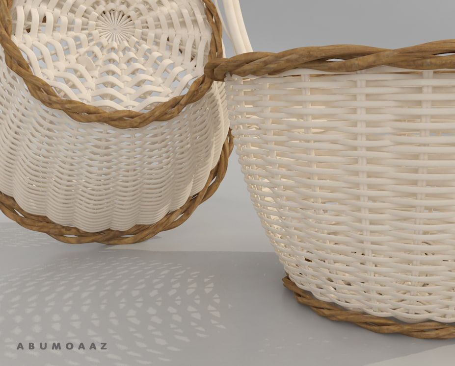 basket bamboo 3d model