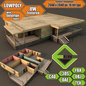 3d model house interior building