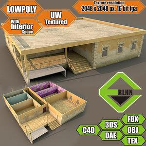 3d house interior building