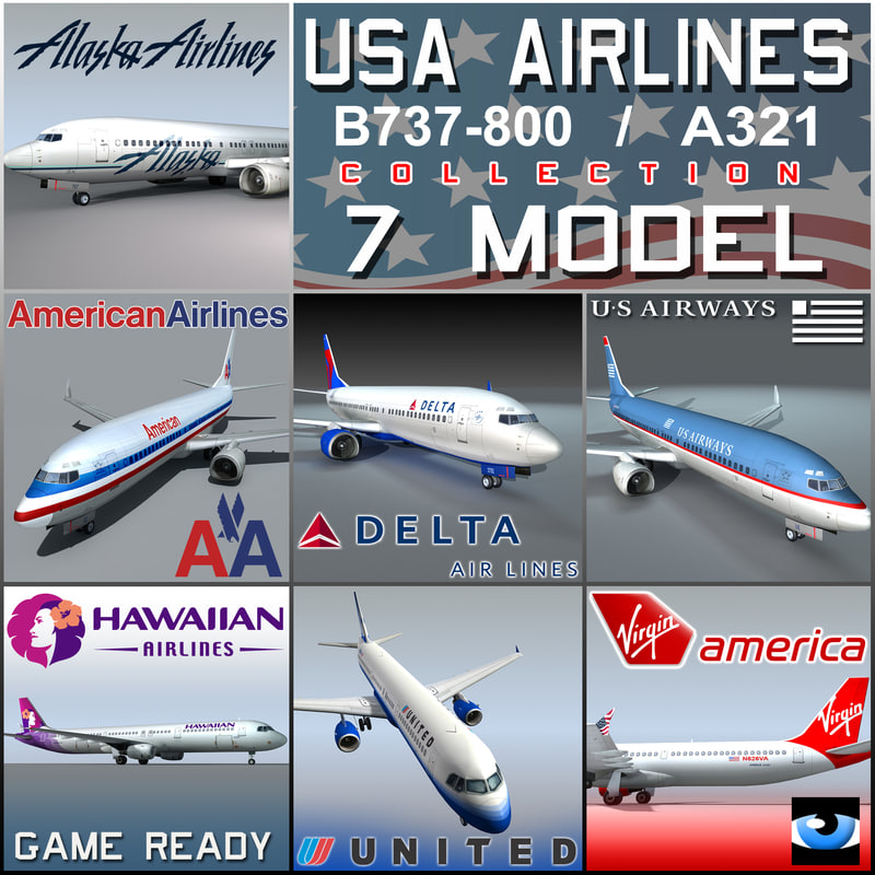 3d 737 american airlines