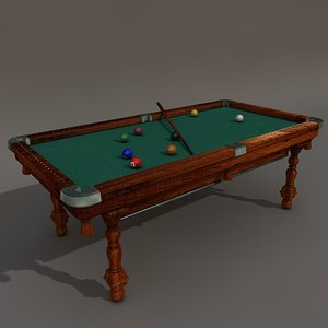 obj antique billiard table