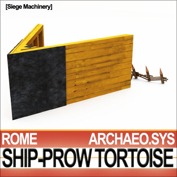ancient rome ship-prow tortoise c4d