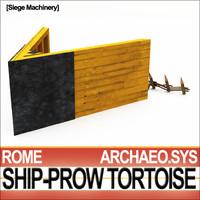 Ancient Rome Ship-Prow Tortoise Siege Machinery