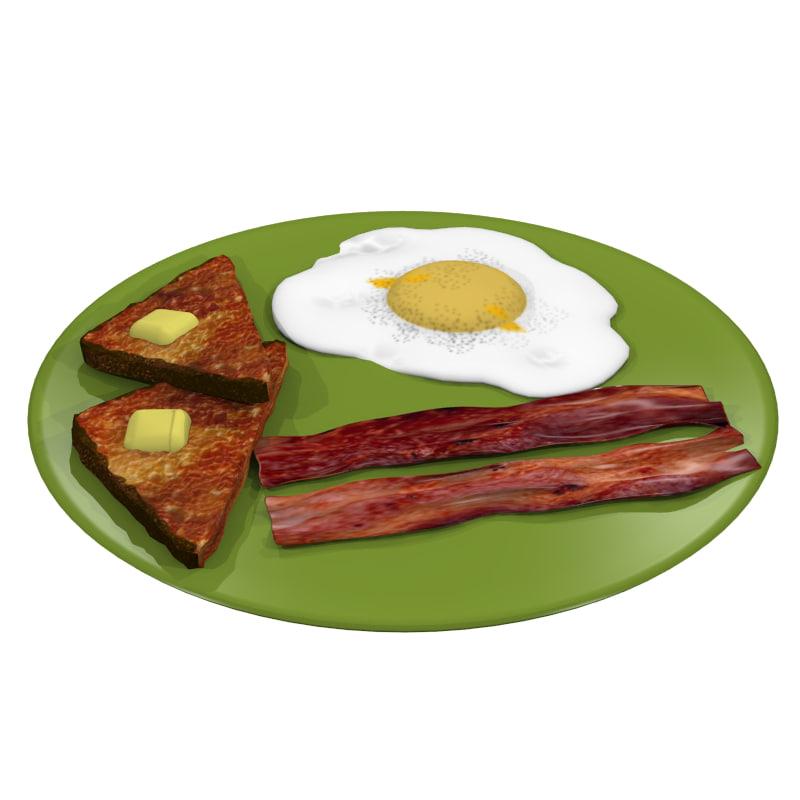 obj bacon egg toast