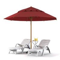 Beach Sun Lounger Set