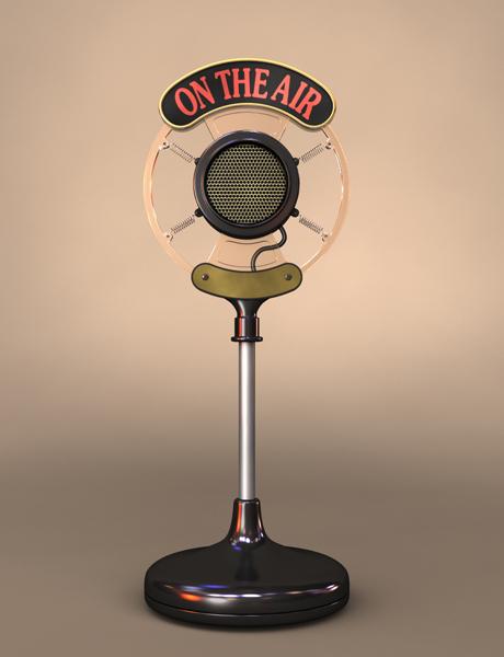 3ds broadcast radio microphone