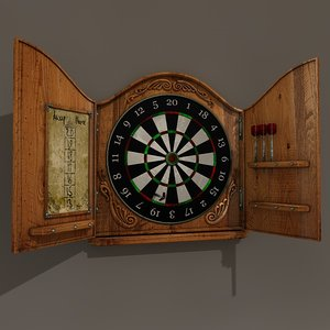 antique dartboard 3d c4d