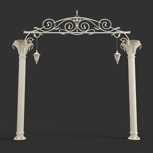 3d columns arches