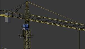3d tower construction crane model