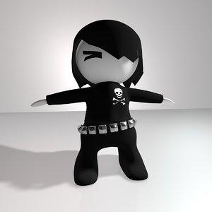 emo character 1 obj