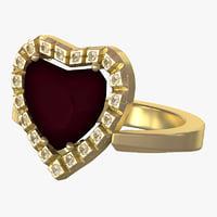 3d gold ring v2 model