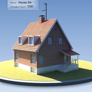 3d model house scandinavian