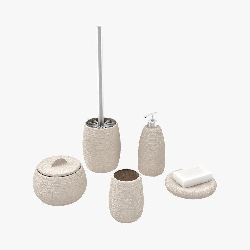 Bathroom accessories john lewis -  Visualization John Lewis 3d Model Purple Bathroom Accessories