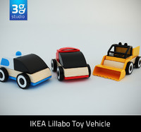 lillabo toy vehicle 3d model