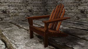 old adirondack chair 3d 3ds