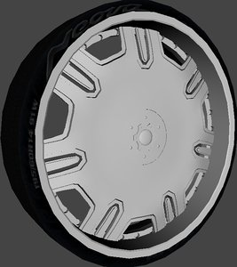 3d model lexani radiant wheel