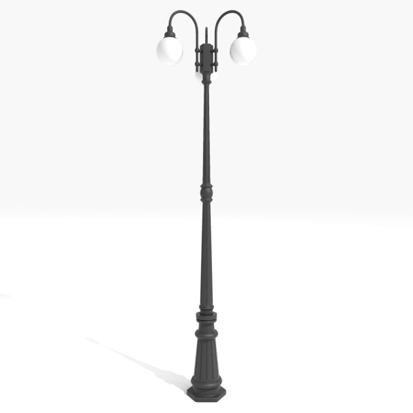 3d model light post