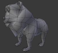 3d lion cartoon
